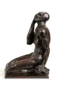 "JOB bronze, 14.5″ x 6.5 "" x 10″"