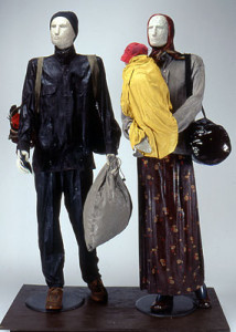REFUGEES fiberglass and mixed media, life size